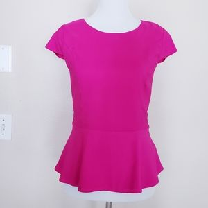 Express Pink Peplum Blouse